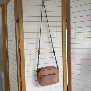 Status Anxiety Cult bag in dusty rose pink pebbled